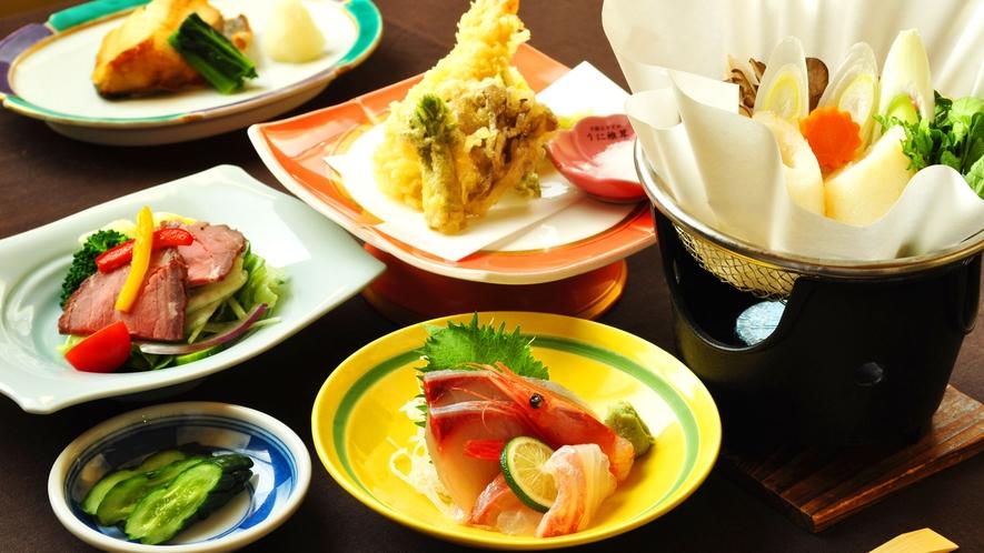 【ご夕食一例:ビジネスプラン】お刺身や天ぷらの旬の旨味をご賞味ください