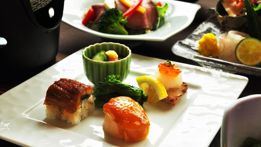 【夕食一例:よねしろプラン】彩りも美しい前菜