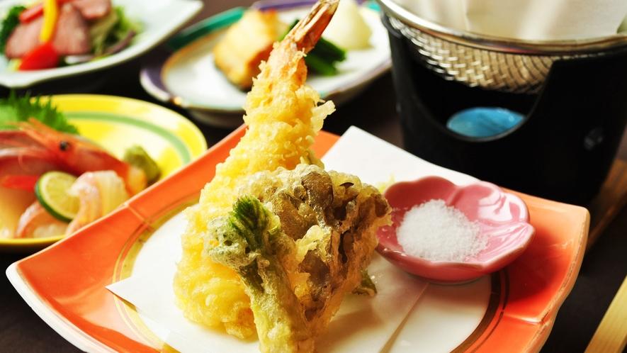 【ご夕食一例:ビジネスプラン】旬のお野菜を天ぷらにいたしました