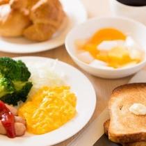 嬉しい無料朝食