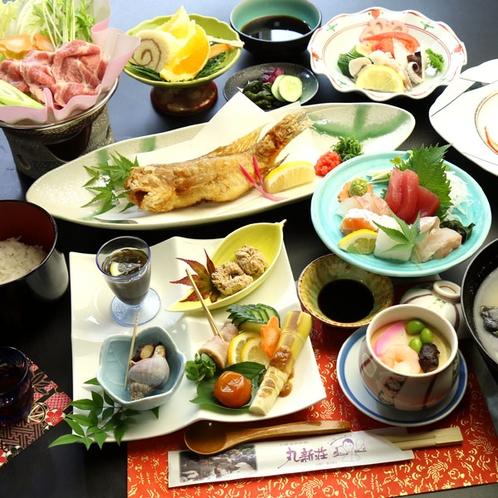 【夕食一例・冬】グレードアップお料理