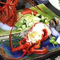 【夕食一例】「伊勢海老の焼き物」