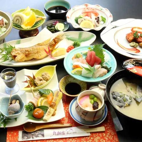 【夕食一例・夏】グレードアップのお料理