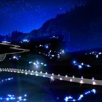 【アパ上越妙高/宇宙のどこか】「宇宙から見た星座」を立体的に表現した一面の青い世界☆