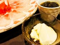 【特選アグーしゃぶしゃぶコース】もずく&ジーマミー豆腐