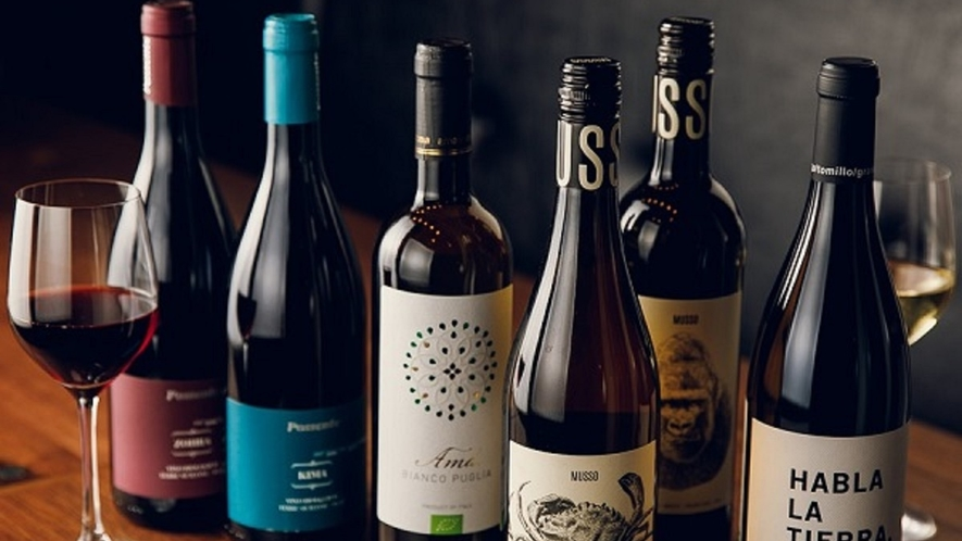 ■【ディナー】ワイン・アルコール飲料も多数ご用意しております。