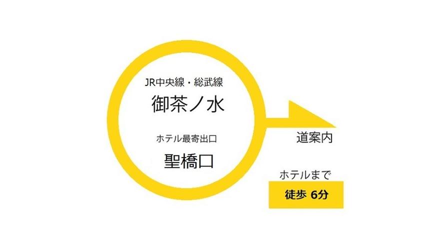 JR中央線・総武線「御茶ノ水駅」からのご案内です。