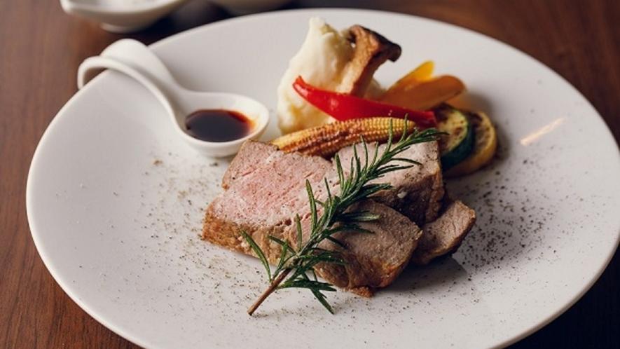 ■【ディナー】【オススメ】蔵王豚の低温ローストグリル