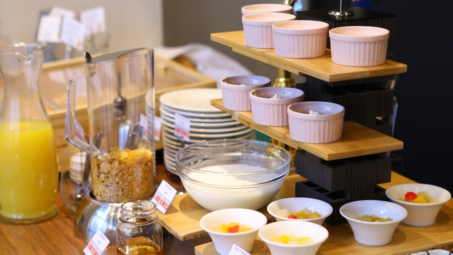 ■朝食ビュッフェ一例【デザート・ドリンク】