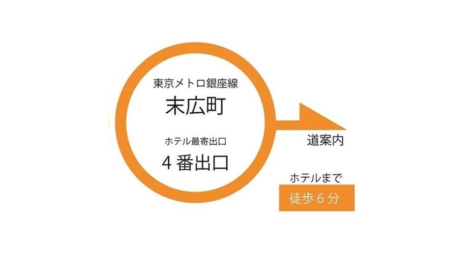 東京メトロ銀座線「末広町駅」からのご案内です。