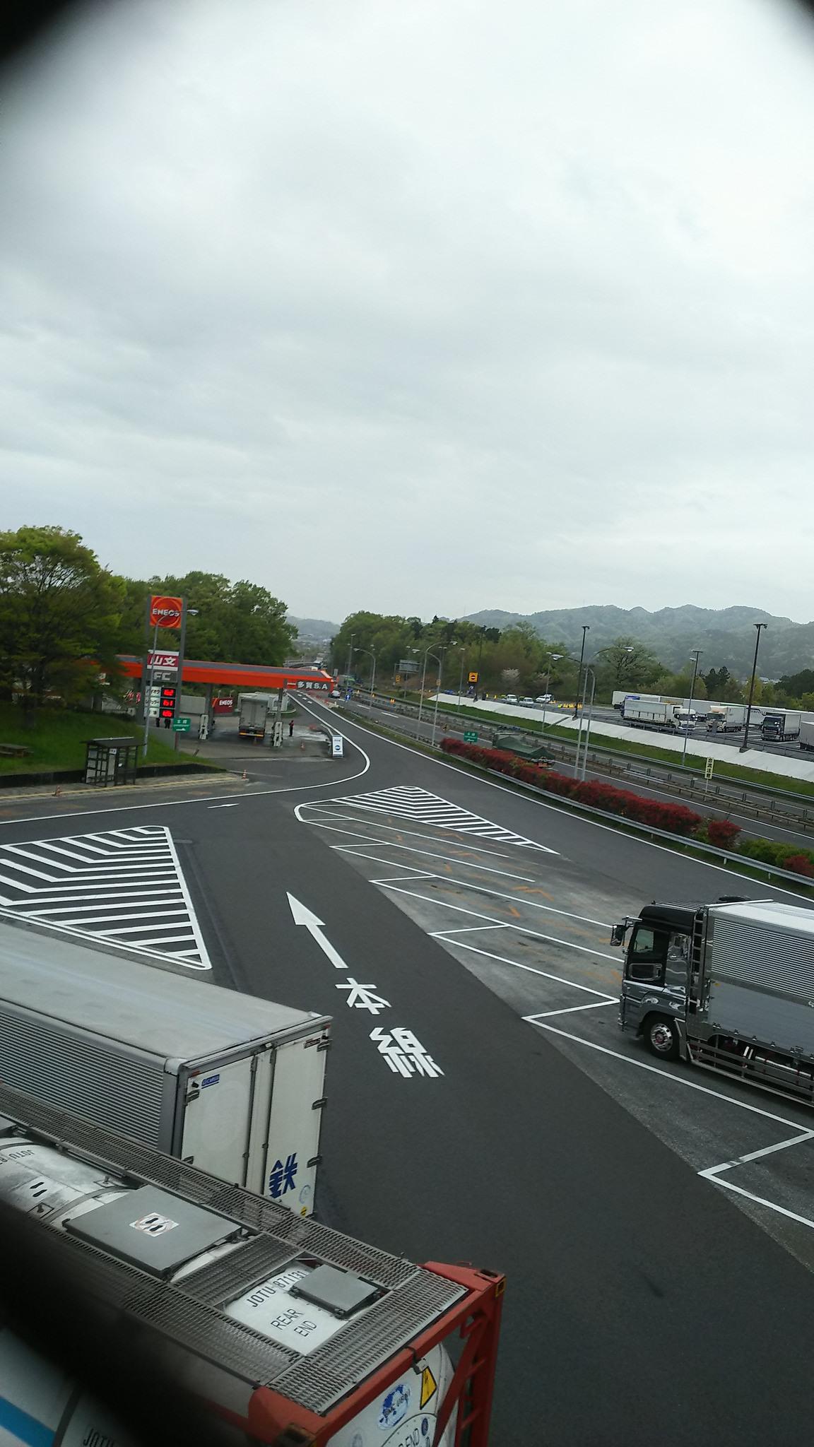★多賀SA上り線 ガソリンスタンド エネオス★24H営業 大型トラックの方もOK