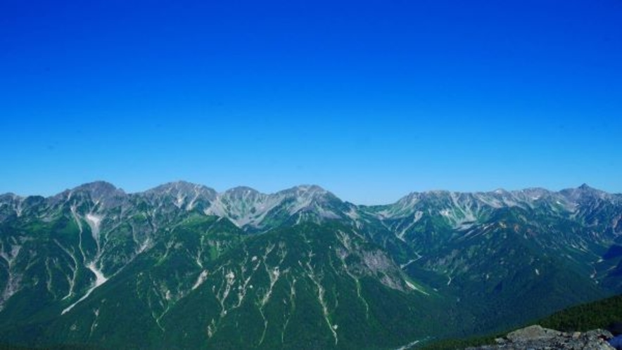 穂高から槍ヶ岳