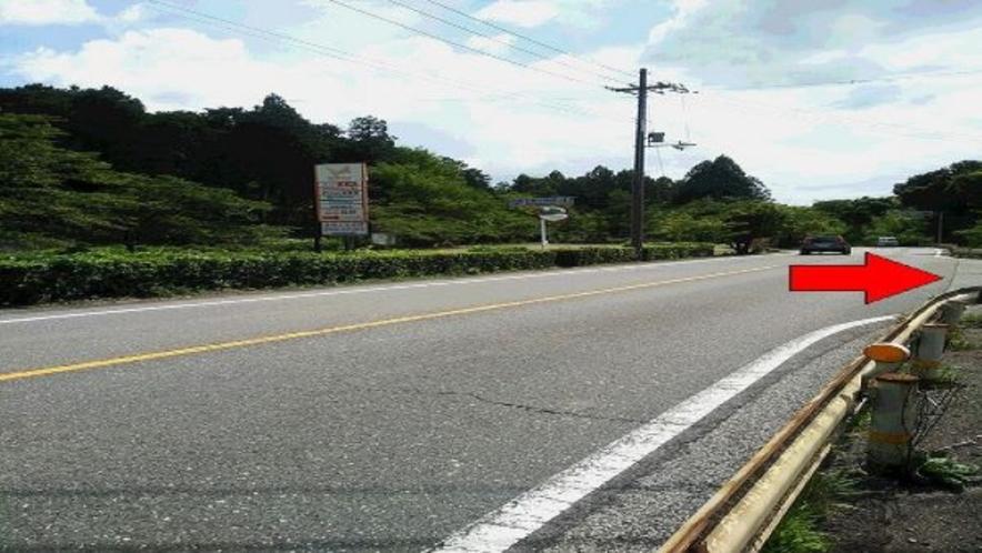 一般道からお越しの方へ★多賀SA下り線への看板(道路左側)を右折 国道307号線 彦根→大阪側