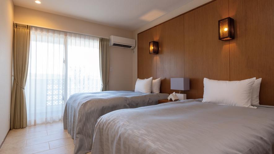【海】Sealy(シーリー)のベッドを完備したベッドルーム