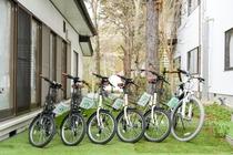 女性も乗りやすいレンタル自転車