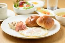 地元食材を使った朝食(一例)