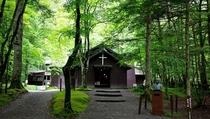 軽井沢ショー記念礼拝堂 いこい山荘より自転車で約35分