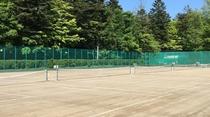 軽井沢会テニスコート いこい山荘より自転車で約30分