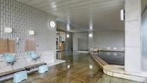 *温泉大浴場/黒褐色の湯が別名「美人の湯」とも呼ばれ、お肌がつるつるになると言われております。