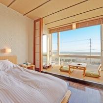 *和洋室一例/晴天の窓から臨む景色は高級ホテルにも負けない当館の自慢ポイントです!