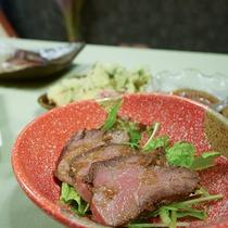 *夕食一例/ローストビーフ
