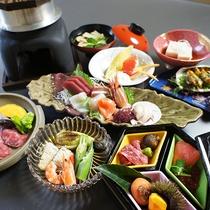 *料理(秋)/割烹70年の歴史を誇る佐渡見亭の会席料理