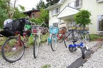 貸し自転車は20台ほどご用意しています