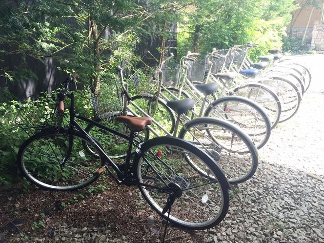 当館所有の貸し自転車は20台ほどご用意しています