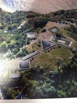 空から見た地中美術館!