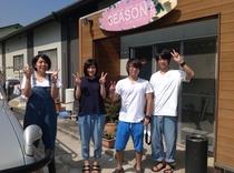 四人の友達で松本市から車でシーズン2に!