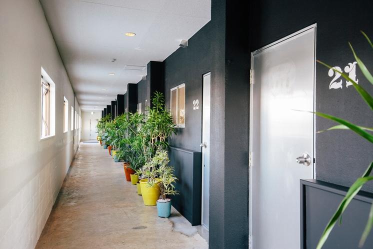 開放感のある廊下