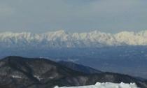 北アルプスの眺望