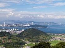 ホテルからの景観(瀬戸大橋の眺望)