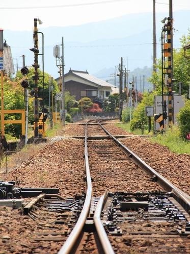 【ローカルな線路の景色】