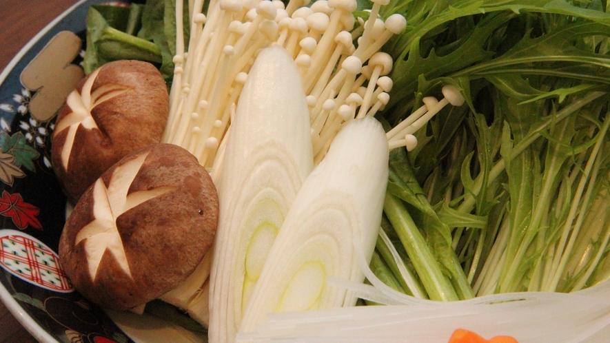 【ご夕食】とれたて新鮮野菜