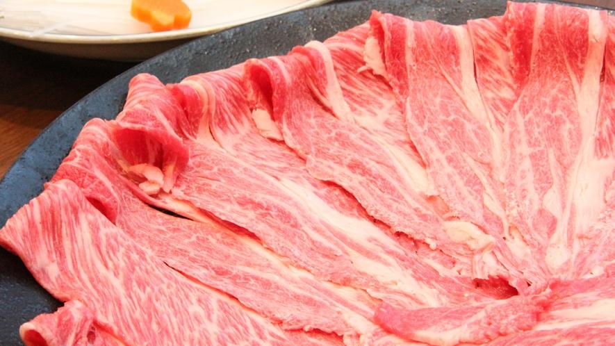【ご夕食】但馬牛と新鮮野菜のしゃぶしゃぶをお召し上がりください
