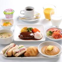 朝食 洋定食~日替わり ハンバーグ~