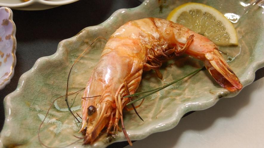 *【夕食一例】海老の塩焼き