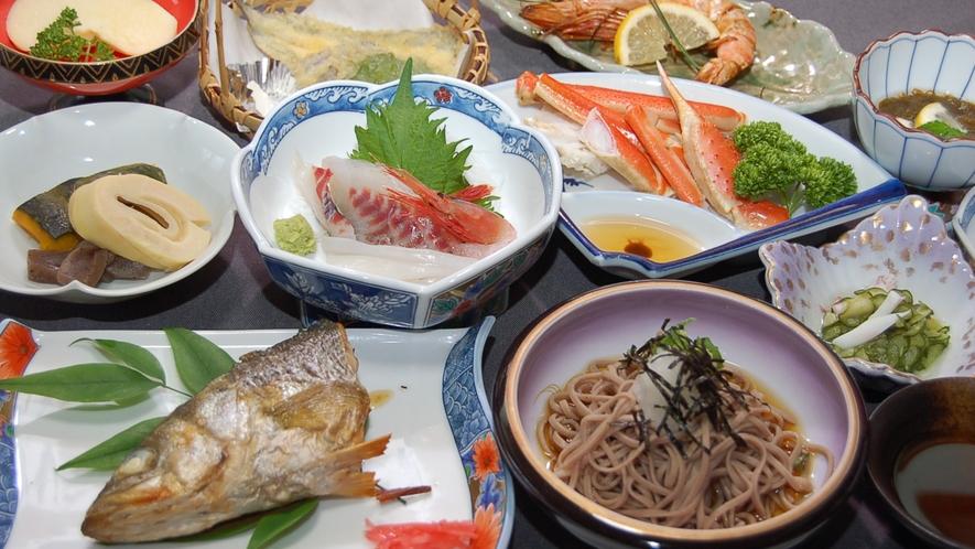 *【夕食一例】主人の目利きで選ばれた食材を使用
