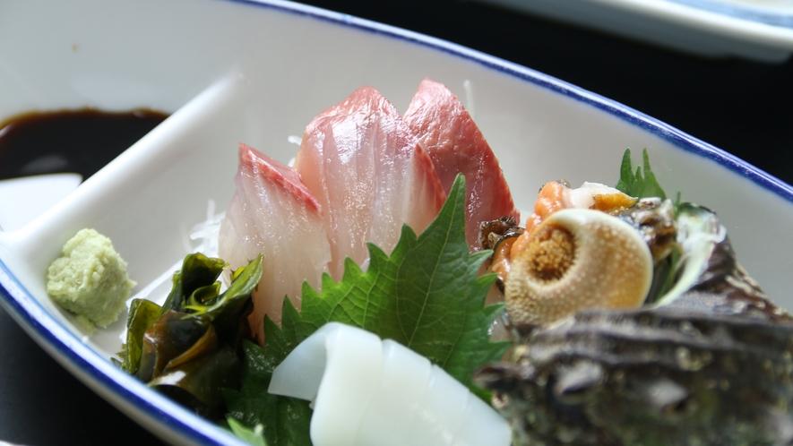 新鮮な鮮魚のお造り