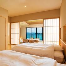 ■ラグジュアリースイート■-Modern-【ビューバス付 68㎡】 自然豊かな名護湾を望む贅沢な空間