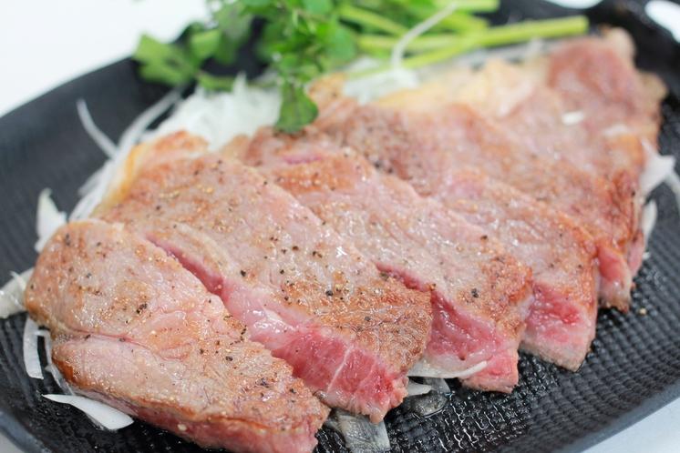 雫石牛のステーキ