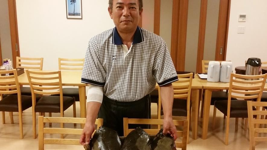 *【当館主人】その季節の新鮮!獲れたて!魚介類を皆様へふるまいます。