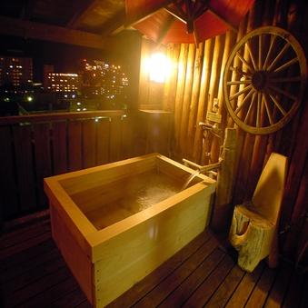 【紗々羅館】夜景が綺麗な露天風呂付客室