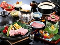 A五等級飛驒牛料理3品付き料理