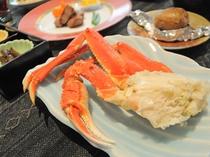 【夕食】洋食コースのずわいかに
