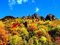【ホテル周辺】層雲峡温泉街からの紅葉