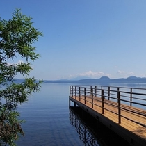 屈斜路湖 桟橋