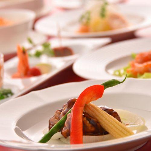 【夕食例】ホテルのスタンダード!中華のコース料理