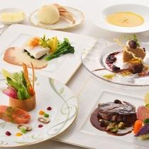 【夕食例】メインが選べるフレンチのプチコース例